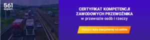 Certyfikat kompetencji zawodowych przewoźnika – e-learning