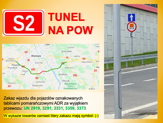 Read more about the article ADR tunel na S2 w Warszawie